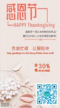 感恩节日促销活动宣传