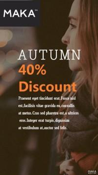 秋季女装新品上新创意宣传海报