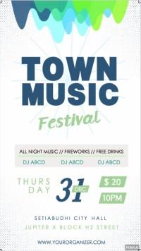 白色清爽风派对酒吧夜店音乐节音乐会活动宣传海报