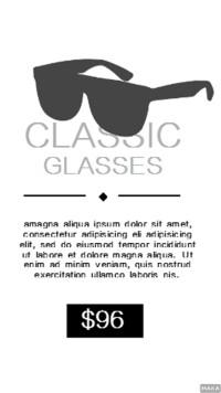 时尚眼镜介绍英文海报