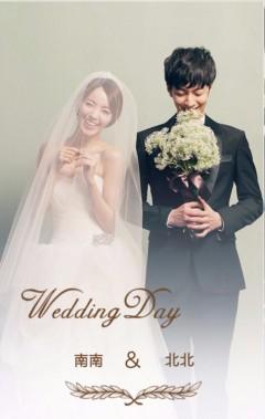 简约淡雅杂志风时尚韩式婚礼结婚喜帖邀请函